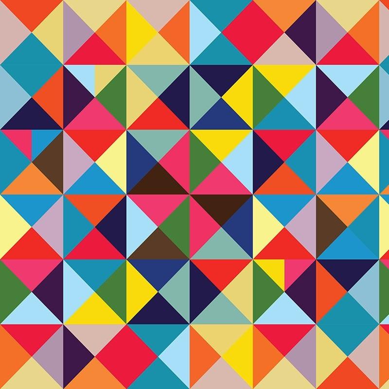 Adesivo De Unhas Para Formatura ~ Papel De Parede 3d Adesivo Abstrato Triangulos Coloridos