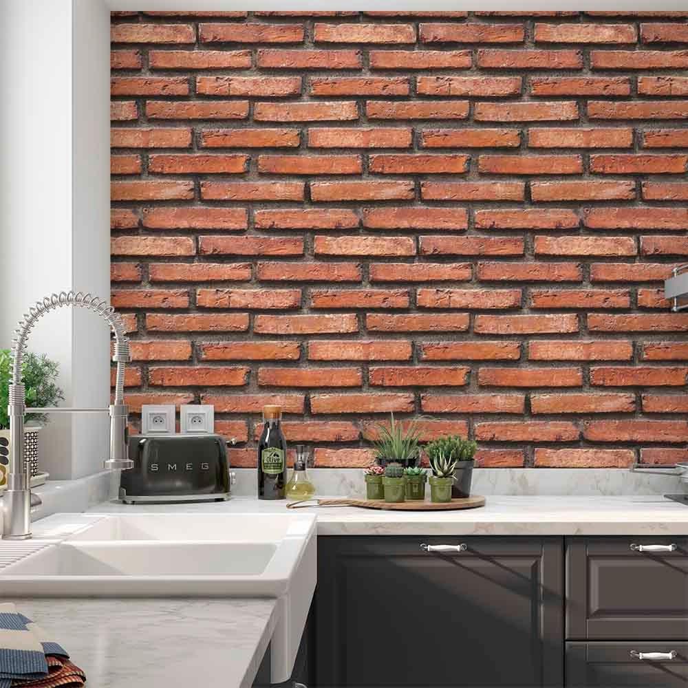 4bab0a091 papel de parede 3d adesivo lavável vinil tijolo aparente. Carregando zoom.