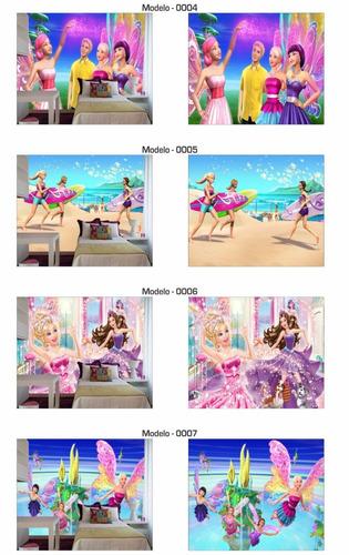 papel de parede 3d barbie (m²)