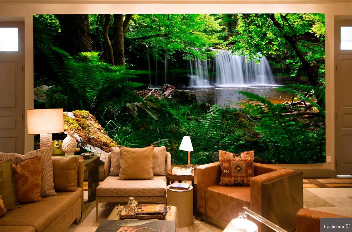 Papel de parede 3d cachoeiras alta defini o venda por for Papel pintado para paredes 3d