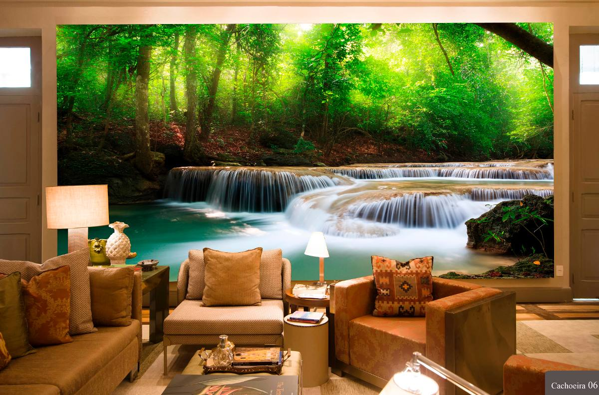 Papel de parede 3d cachoeiras alta defini o venda por - Papel pared 3d ...