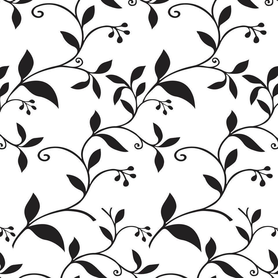 Papel De Parede 3d Floral Flor Preta Fundo Branco 10 Metros