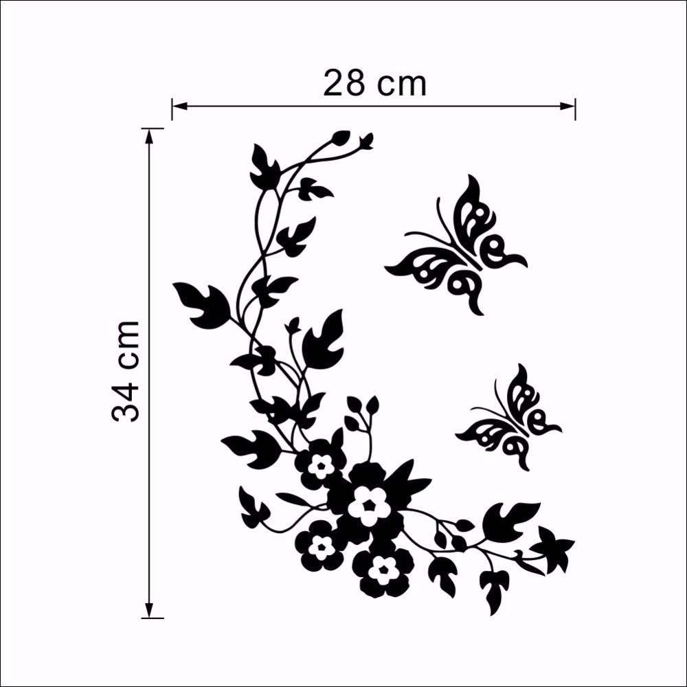 Papel De Parede 3d Flores Amp Borboletas R 49 90 Em
