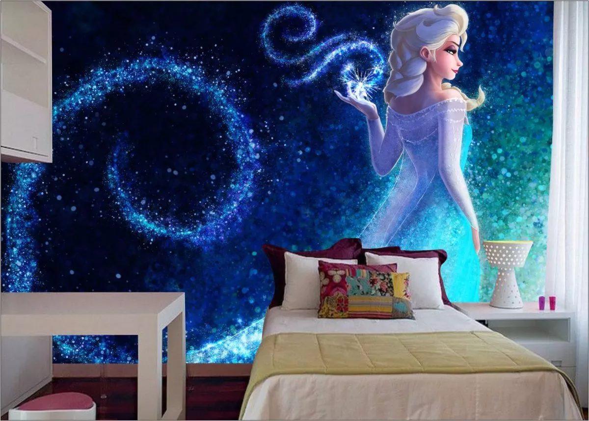 Papel de parede 3d frozen para quarto infantil r 49 90 - Papel infantil para paredes ...
