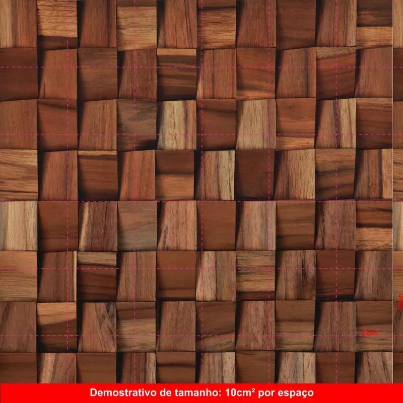Papel de parede 3d mosaico madeira sala vin lico adesivo for Mosaico adesivo 3d