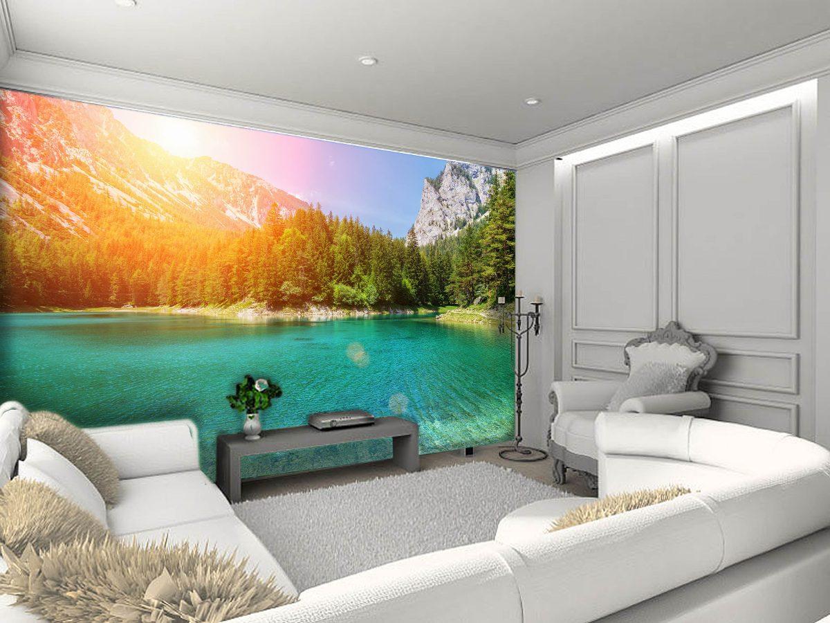 Papel de parede 3d paisagem lagos 4k v rios modelos m - Papel autoadhesivo para paredes ...