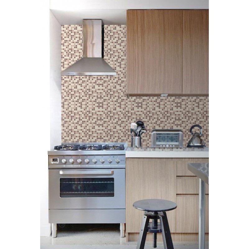 Artesanato Tecido ~ Papel De Parede 3d Para Cozinha Banheiro Pastilhas Adesivo R$ 79,90 em Mercado Livre