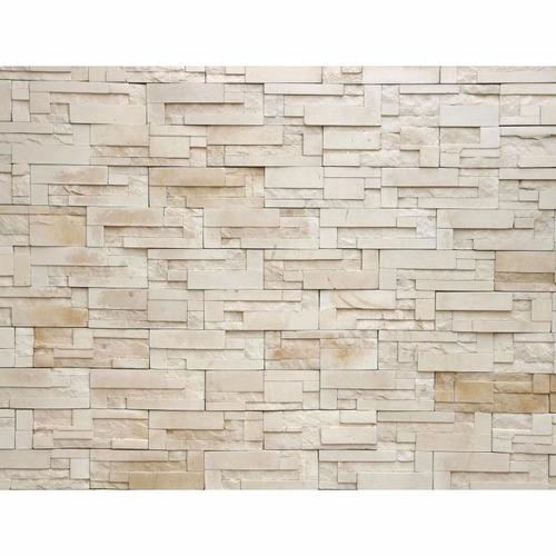 papel de parede 3d pedras canjiquinhas bege vinílico oferta
