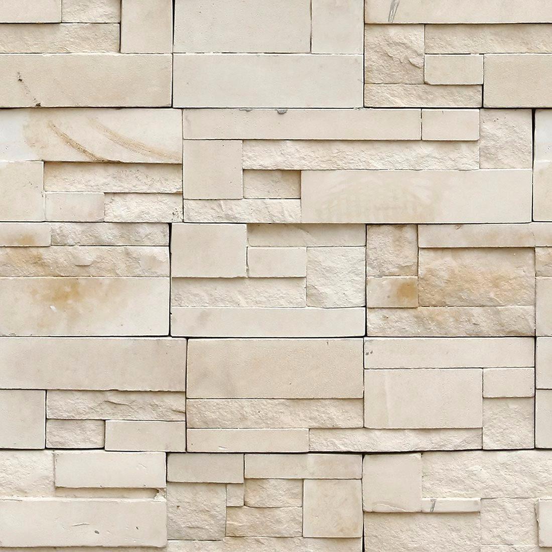 d338faed3 papel de parede 3d pedras rustico beje vinílico. Carregando zoom.