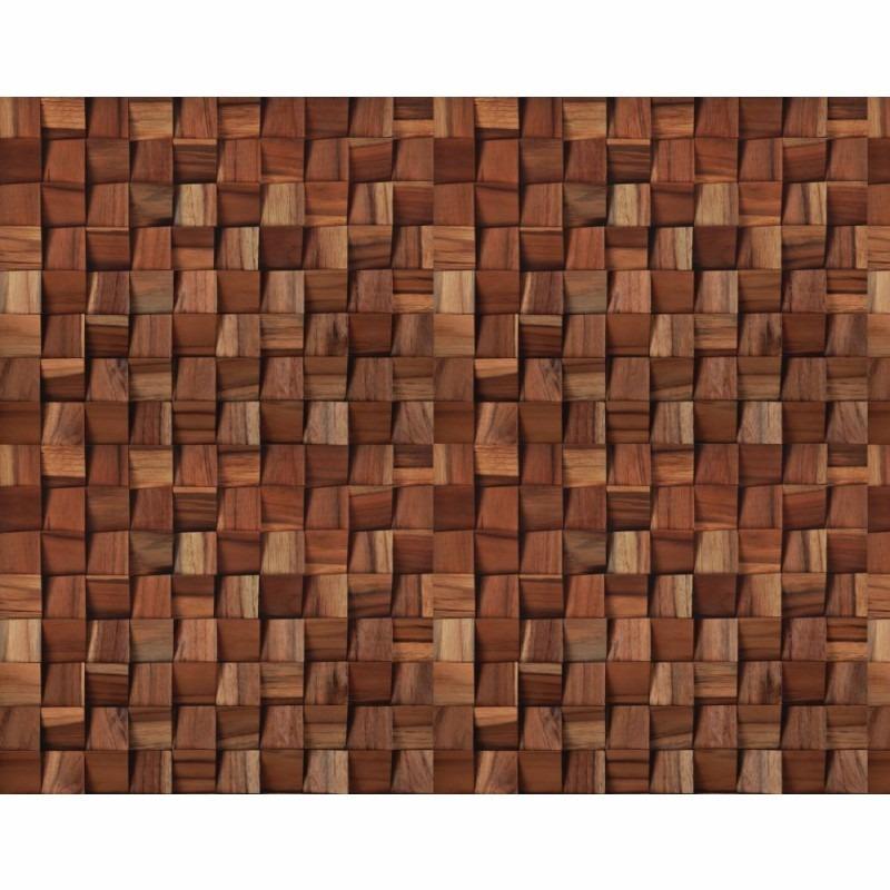 Adesivo De Natal Para Imprimir ~ Papel De Parede 3d Sala Mosaico Madeira Vinílico Adesivo R$ 52,49 em Mercado Livre