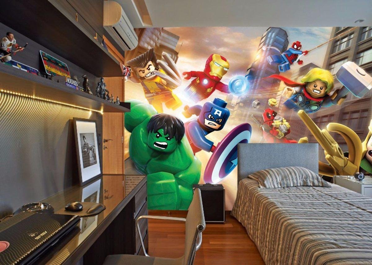 Armario Keter Para Exteriores ~ Papel De Parede 3d Super Heróis Produto Especial R