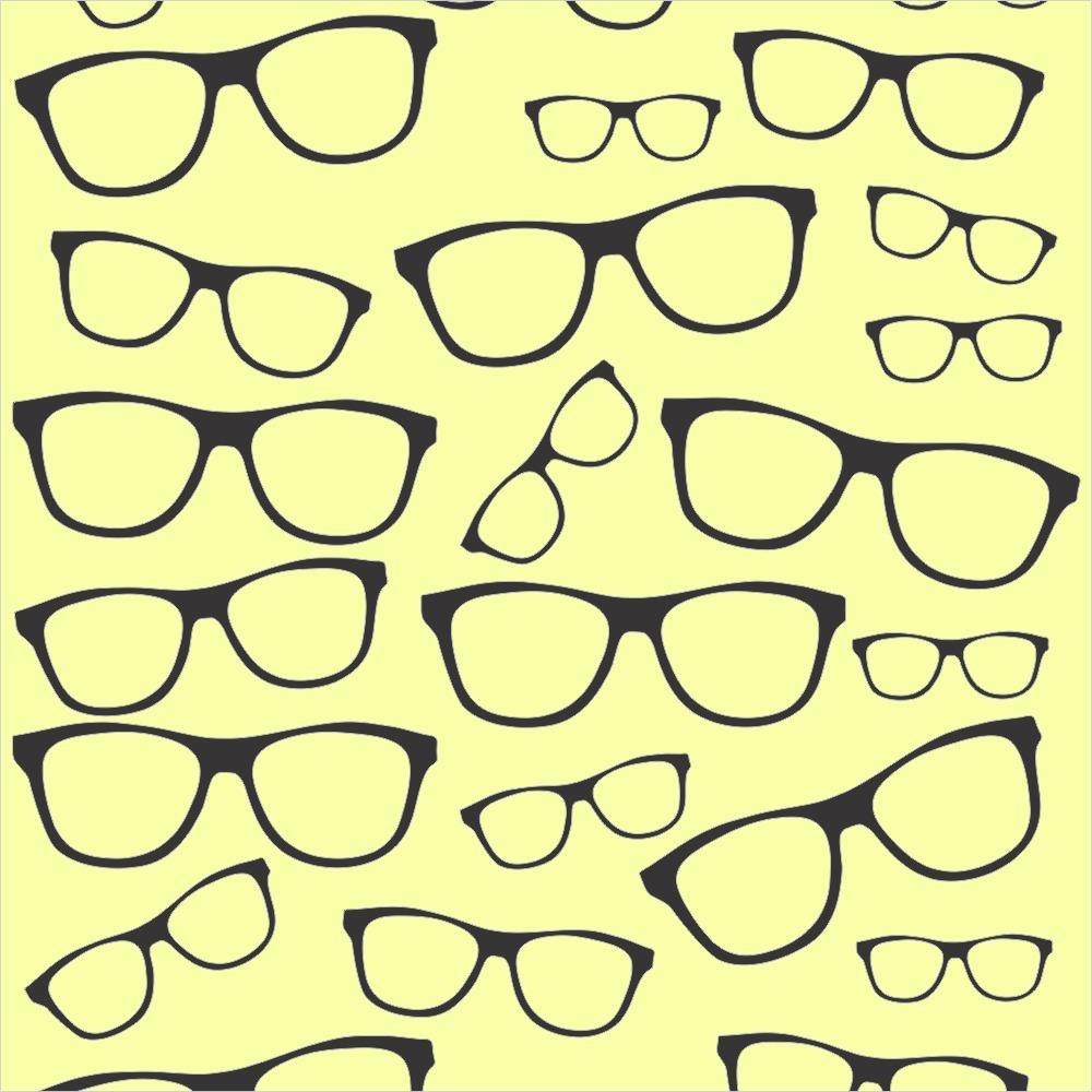 380396974 Papel De Parede 3d Teen Óculos Preto E Amarelo 3 Metros - R$ 63,00 em  Mercado Livre