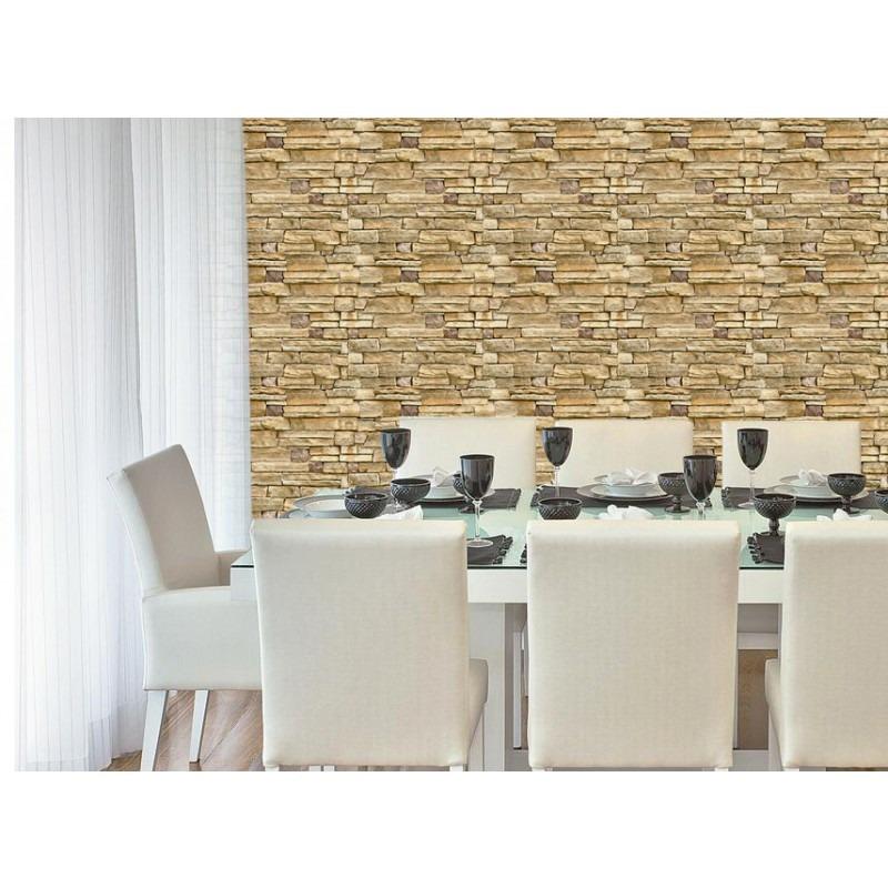 5dbd32a9a papel de parede 3d tons de bege pedras naturais rústicas. Carregando zoom.