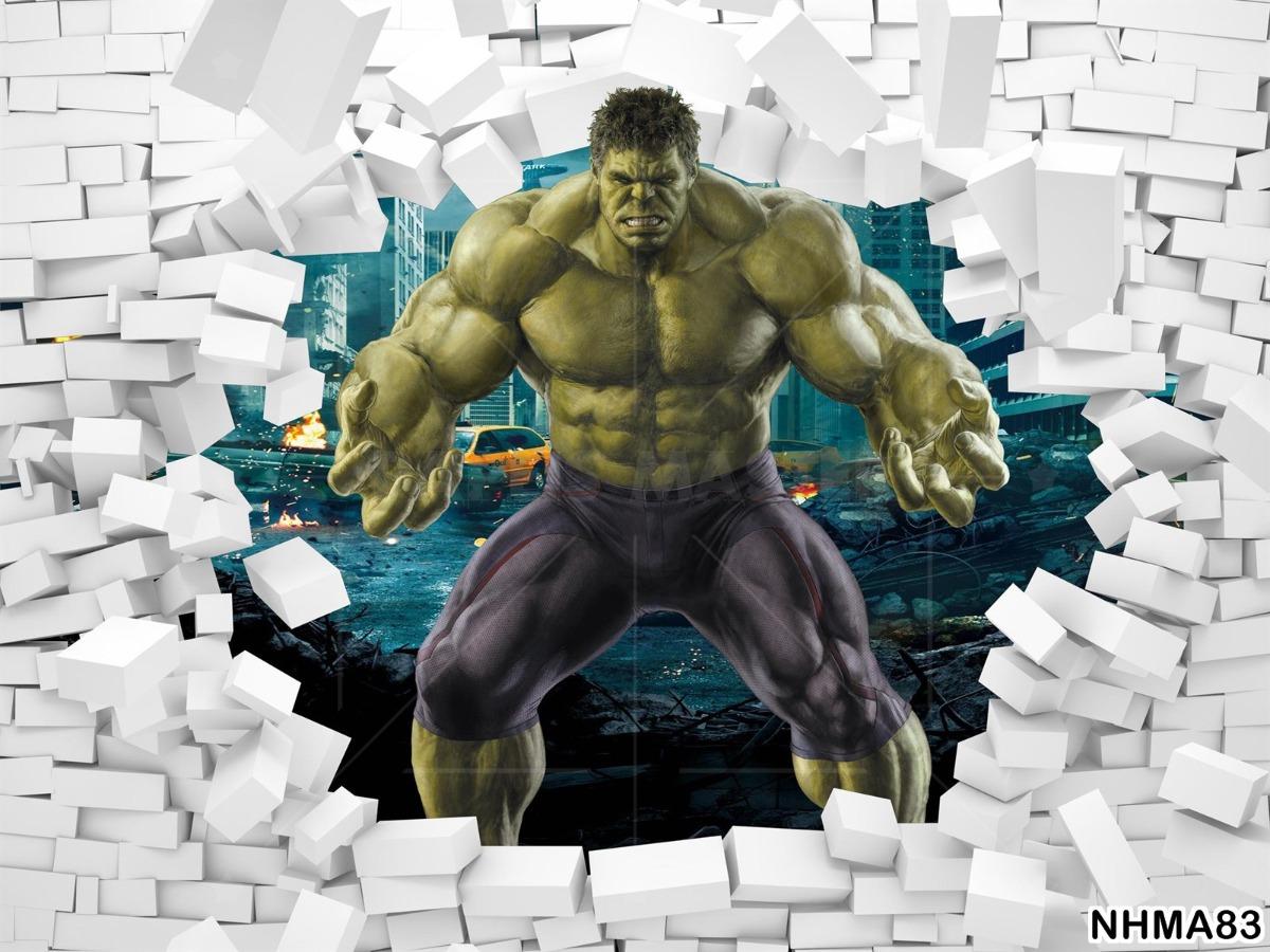 Papel De Parede 3d Vingadores Heroi Hulk Quarto 9m Nhma83 R