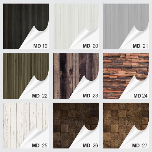 papel de parede adesivo 3d textura de madeira 60 modelos.