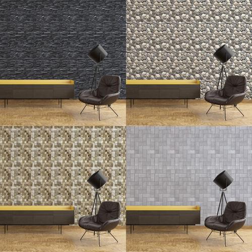 papel de parede adesivo 3d textura de pedras 70 modelos.