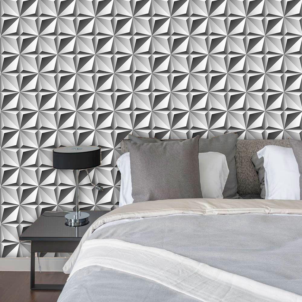 Papel de parede adesivo abstrato revestimento placa 3d r - Papel vinilico para paredes ...
