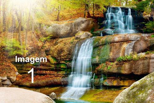 papel de parede adesivo cachoeira 12m² (3,0 alt x 4,0 larg)