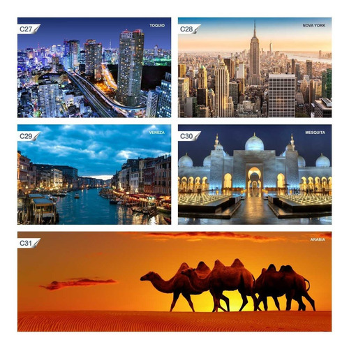 papel de parede adesivo cidades arábia c31 - 40 unids.