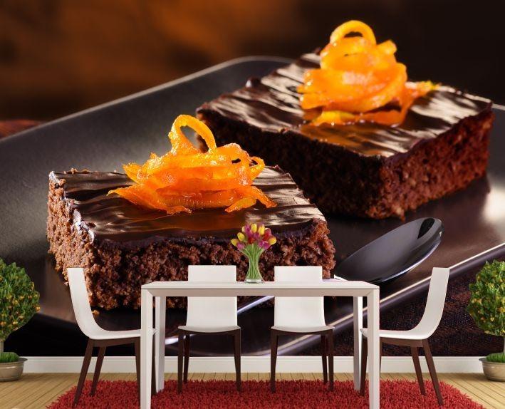 Papel De Parede Adesivo Comida Bolo Chocolate Completo Gg150 R