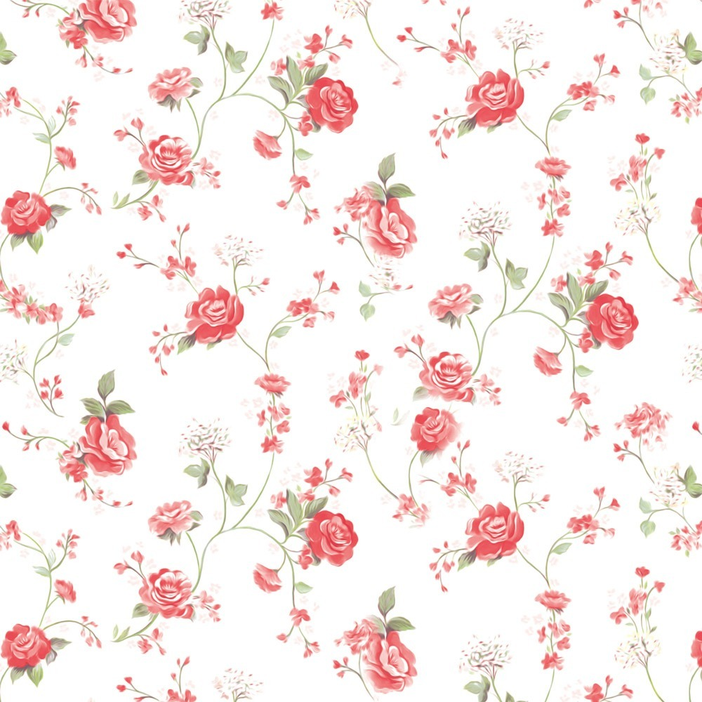 Loja Artesanato Zona Sul ~ Papel De Parede Adesivo Floral Vermelho Delicado Lavável 3mt R$ 49,35 em Mercado Livre