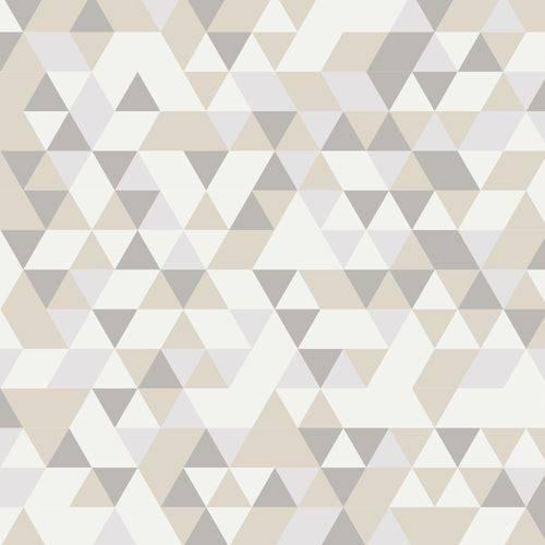 papel de parede adesivo geométrico cinza e bege - md. 100