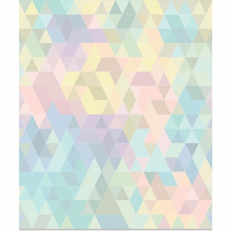Papel de parede adesivo geom trico colorido lavavel - Papel vinilico para paredes ...