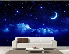 15b6c0eedbac10 Papel De Parede Adesivo Novo Céu Noturno Estrelado 1,5x2 Mts