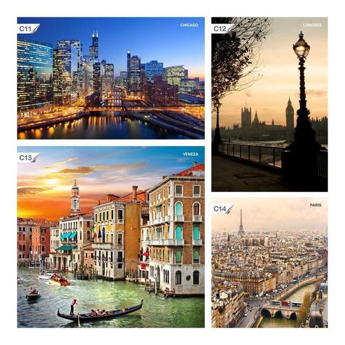 papel de parede adesivo lavável cidades paris c16 - 9 unids