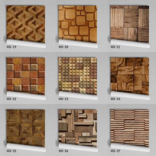 papel de parede adesivo lavável madeira md-06 - 14 unidades