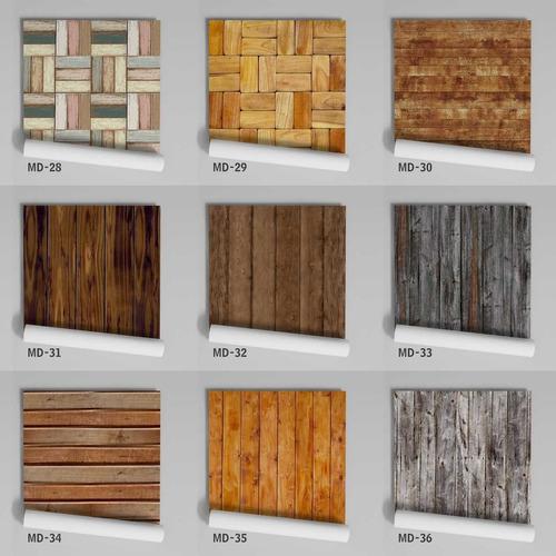 papel de parede adesivo lavável madeira md-06 - 18 unidades