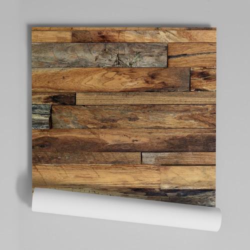 papel de parede adesivo lavável madeira md-06 - 20 unidades