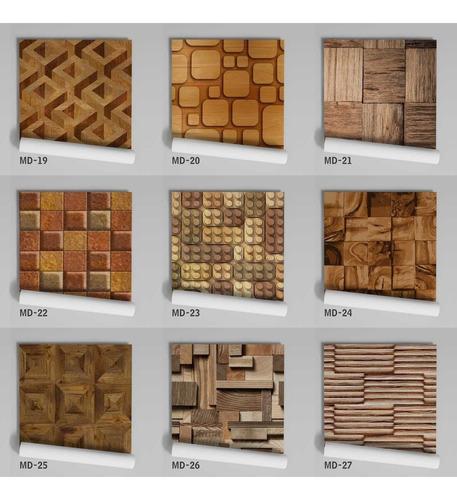 papel de parede adesivo lavável madeira md-06 - 23 unidades