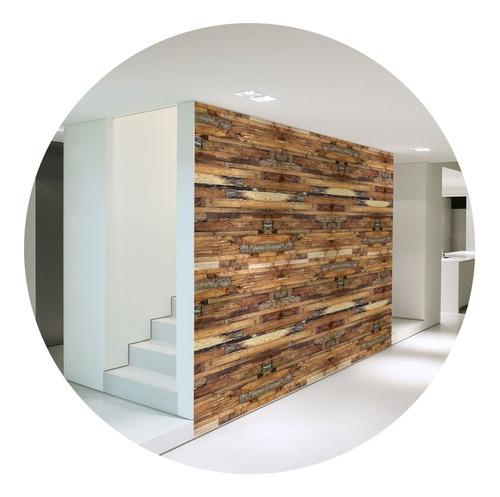 papel de parede adesivo lavável madeira md-06 - 7 unidades