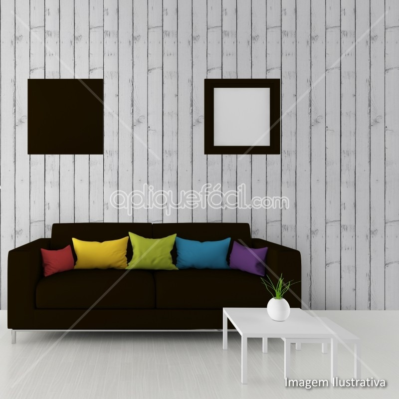 61b7651d5 Papel De Parede Adesivo Madeira Cinza Sala Luxo - R  44