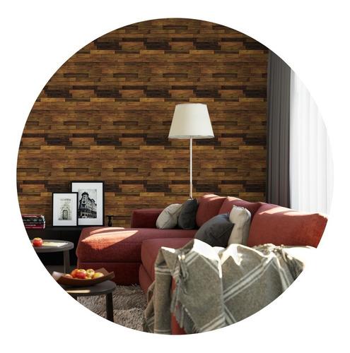 papel de parede adesivo madeira textura md-03 - 10 unidades