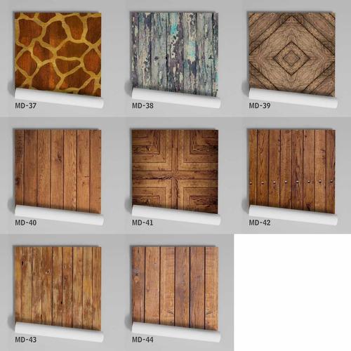 papel de parede adesivo madeira textura md-03 - 16 unidades
