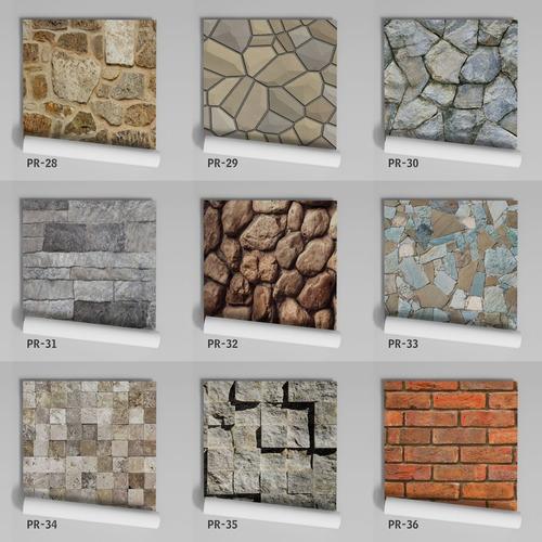papel de parede adesivo pedras tijolinhos pr-46 - 10 unids.