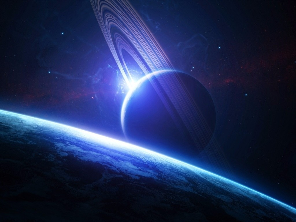 Papel de parede adesivo planeta saturno espa o gal xia for Plante 3d gratuit