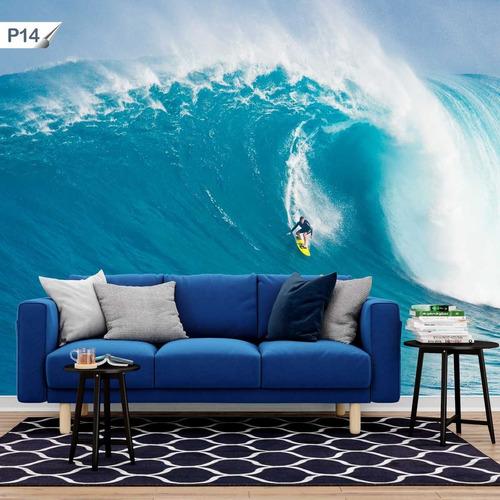 papel de parede adesivo surfista onda do mar p14 - 17 unids.