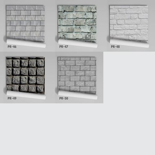 papel de parede adesivo tijolinho branco pr-48 - 9 unidades