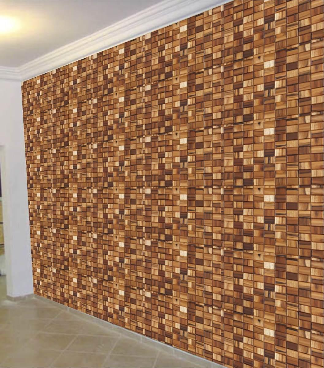 Papel de parede adesivo tipo madeira igual ao natural r for Papel de pared rustico