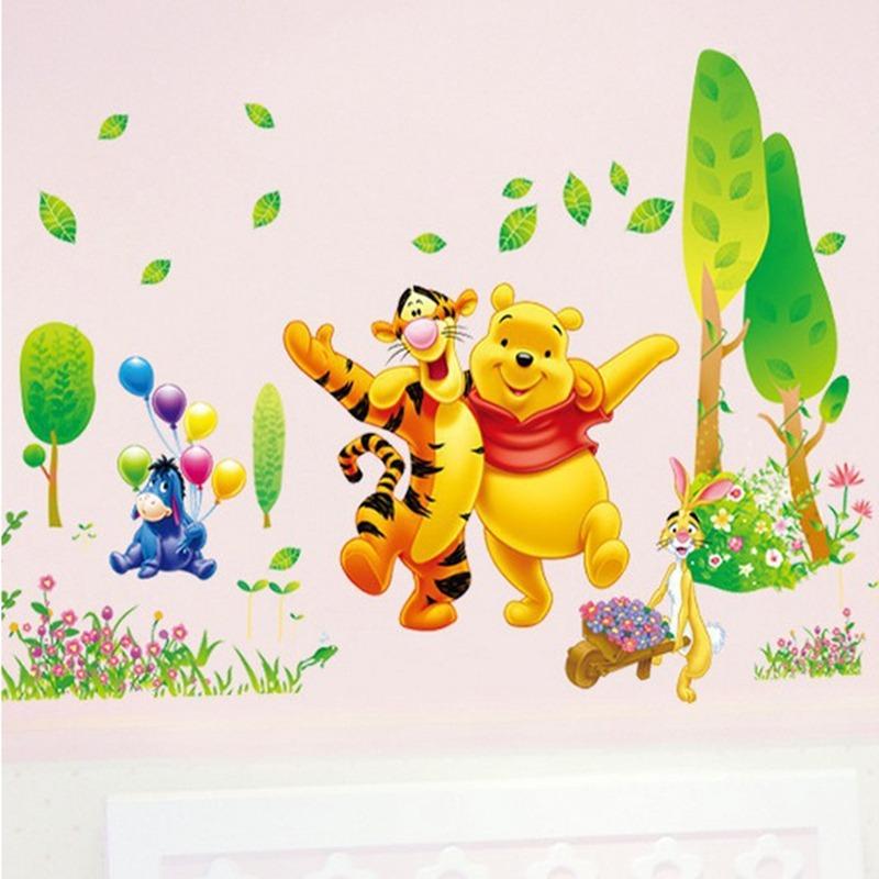 Papel De Parede Adesivo Ursinho Pooh Desenhos Infantil R 120 00