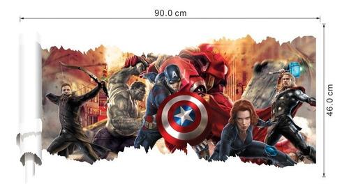 papel de parede adesivo vingadores capitão américa hulk thor
