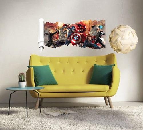 papel de parede adesivo vingadores hulk thor homem de ferro capitão américa arqueiro hulkbuster quarto sala