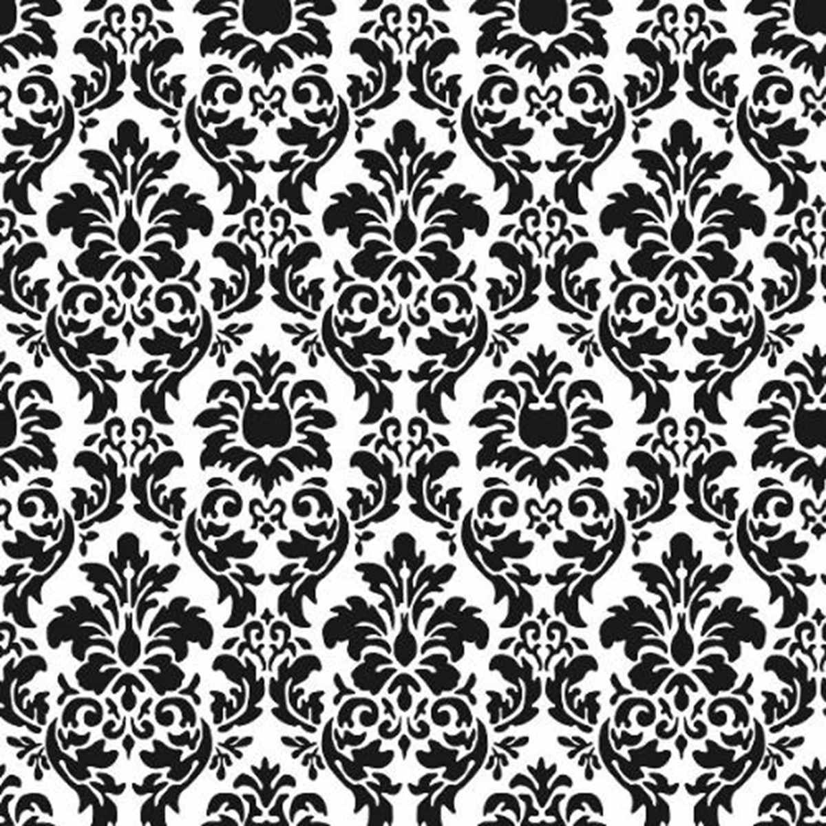 Papel de parede amarie arabesco branco e preto r 217 80 for Papel de pared negro