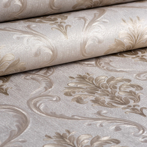 papel de parede arabesco em relevo luxo vinilico lavavel