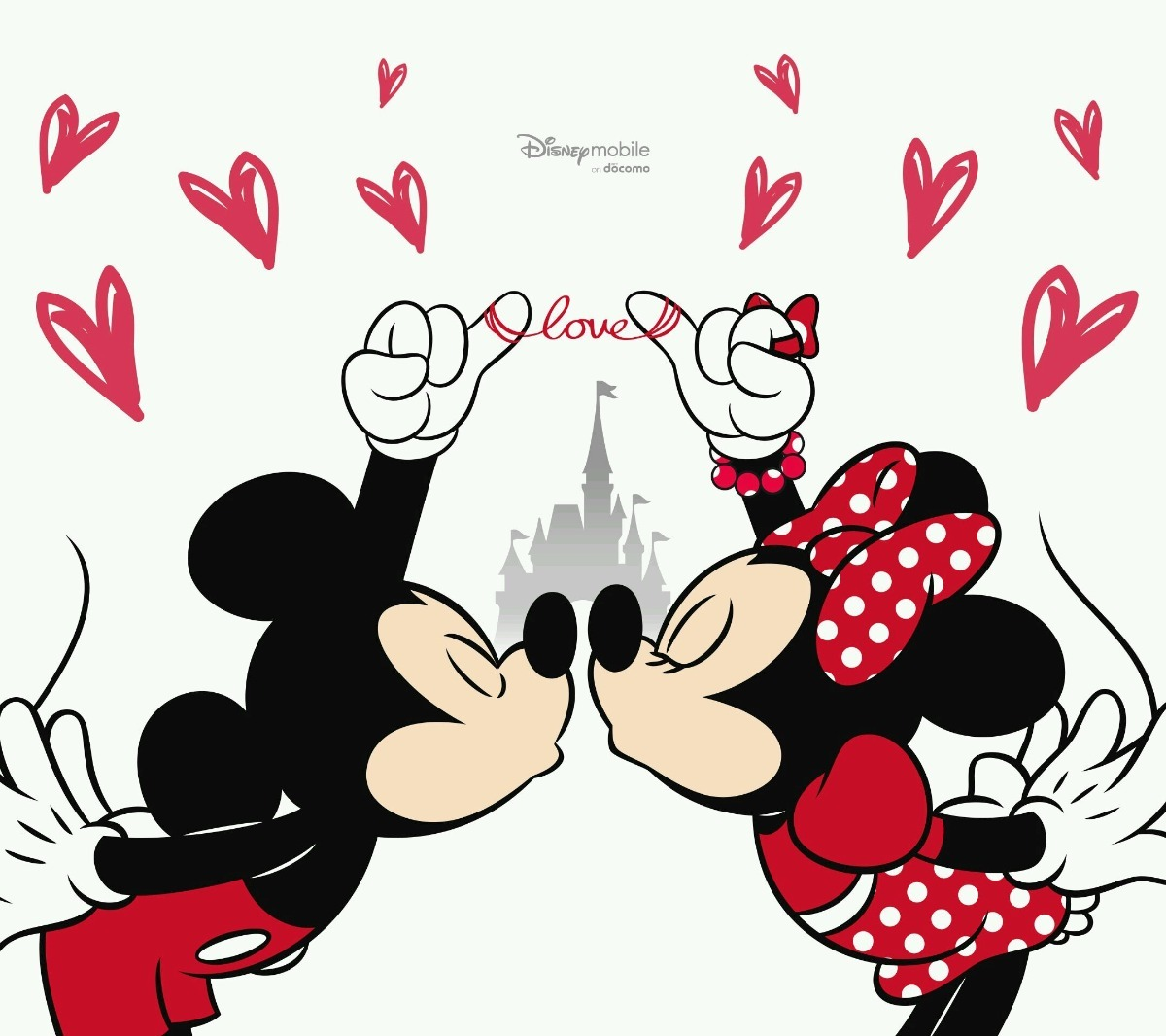 Papel de parede auto adesivo decora o mickey e minnie 2m for Papel de pared negro