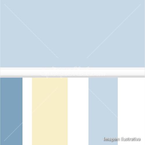papel de parede auto adesivo infantil bebê listra azul bege