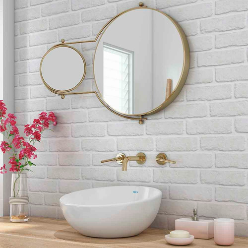 papel de parede autocolante adesivo tijolo branco 3d lavável